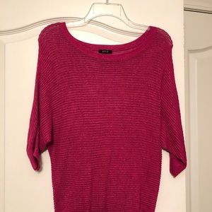 Bright pink summer sweater